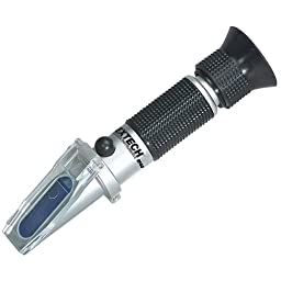 Extech Coolant/Battery Acid Refractometer, -60 to 32 F, 1.15 to 1.30 SG