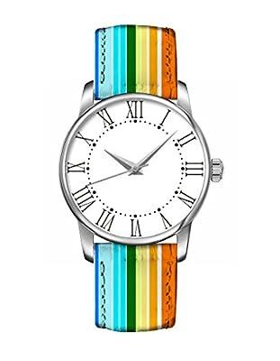 Neu bunte Armband Armbanduhr- Drei Farben-Streifen - OOFIT Designed