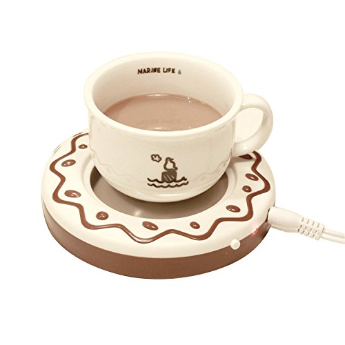 Desktop USB Heated Coffee / Tea Mug Warmer, Candle & Wax Warmer (Usb Cup Heater compare prices)