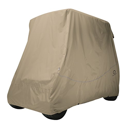 Classic Accessories Fairway Golf Cart Quick Fit Cover, Khaki, Short Roof