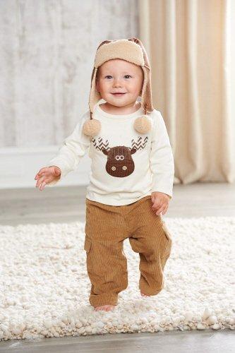 Mud Pie Little Boys' Moose Pant Set, Multi Colored, 2T front-474158
