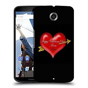 Snoogg Happy Valentines Day Designer Protective Back Case Cover For MOTOROLA NEXUS 6