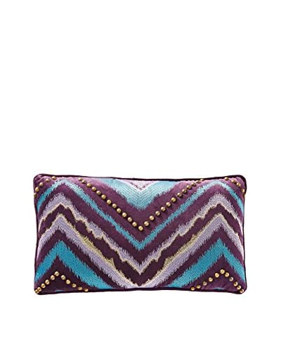 Nanette Lepore Skin Studded Chevron Pillow, Blue