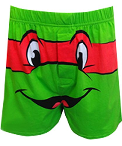 Nickelodeon Men's Raphael Teenage Mutant Ninja Turtle Boxers