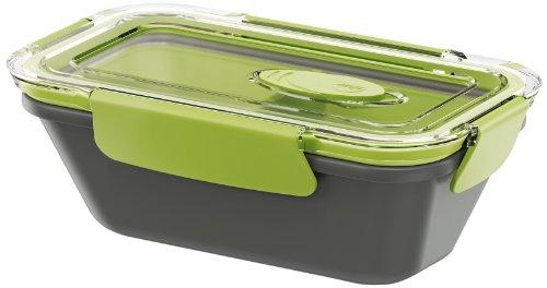 Image of Emsa 513950 Lunchbox mit Deckel, 2 Einsätze, 0,5 Liter, Grün/Grau, Bento Box