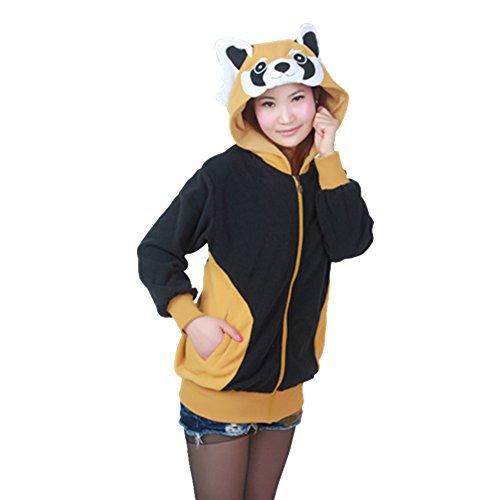 engerla-unisex-pullover-animal-hoodie-zip-ohr-weihnachten-fleece-plusch-racoon-sweatshirt-jacke-mit-