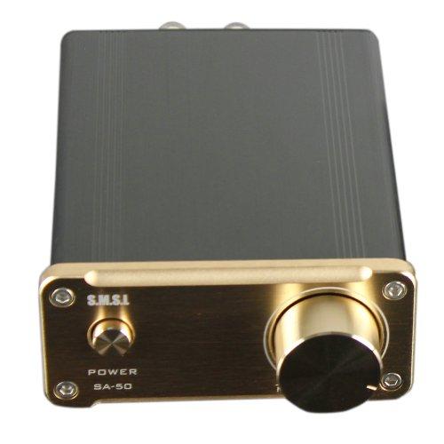 SMSL-SA-50-2x50W-D-AMP-TDA7492-Hi-Fi-Stereo-Verstrker-Amplifier-Endstufe-Power-Adapter-Gold