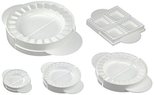 Wenko 2992010500 Teig- & Maultaschenformen - mit Rezepten, 5-teilig, Kunststoff - Polypropylen, weiß