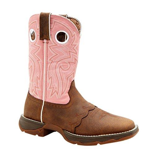 Women's 10 inch Durango Saddle Lace Western Boots, BLUSH, 9M