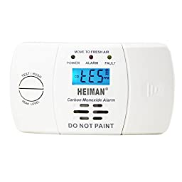 HEIMAN CO Detector Co Alarm Carbon Monoxide Detector with LCD Display Figaro Electrochemical Sensor Battery Operated HM-722ESY