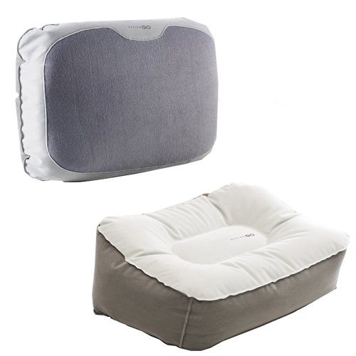 Design Go Set - (Footrest + Lumbar pillow) easy to inflate just a few puffs!