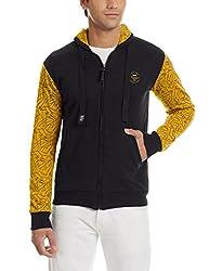 Status Quo Mens Cotton Sweatshirt (8903591851414_SQ-FL-16351_Medium_Charcoal and Mango)