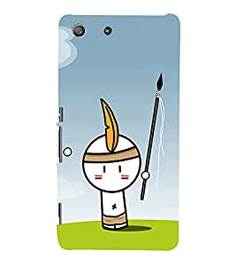 EPICCASE Tribal Boy Mobile Back Case Cover For Sony Xperia M5 (Designer Case)