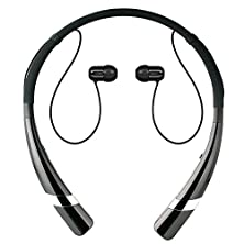 buy Bluetooth Headphone, Ecoastal Hv-960 Wireless Stereo Headset, Soft Silicon Sports Neckband, Two Devices Connected Meantime Capable For Iphone, Samsung And Smart Phones And Bluetooth Devices (Black)