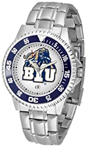 Brigham Young (BYU) Cougars Competitor Watch with a Metal Band by SunTime