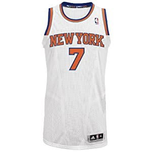 NBA New York Knicks White Authentic Jersey Carmelo Anthony #7 by adidas