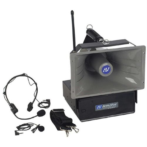 Amplivox Wireless Half-Mile Hailer - With Wired & Wireless Mic