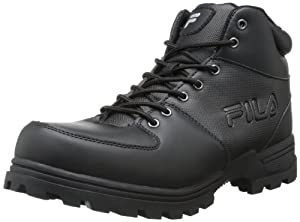 Fila Men's Ascender Hiking Boot,Black/Black,9 M US