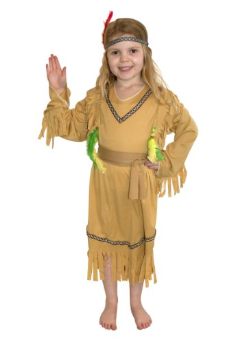Pams Indian Girl Fancy Dress Costume Age 7-10 Years
