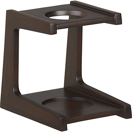 Crate and Barrel Mahogany Coffee Drip Stand