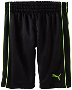PUMA - Kids Boys 2-7 Toddler Boy Piped Short, Black, 4T