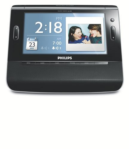 Philips USA AJL308 Clock Radio with 7-Inch TFT LCD Color Display and USB/SD  Card Slot