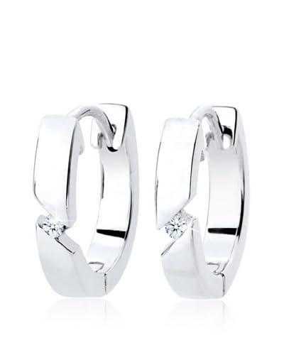 Diamore Pendientes  plata de ley 925 milésimas