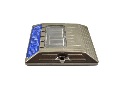 Blue Aluminium Alloy Solar Road Stud Path Deck Dock Led Light One Sided