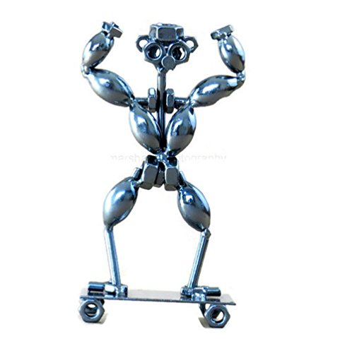 Bodybuilder-Gift-Handcrafted-7-Inch-Metal-Bodybuilding-Weightlifting-Collectible-Statue
