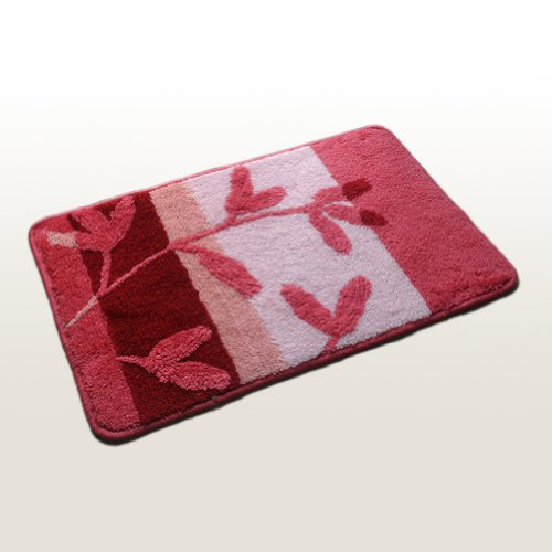 Naomi - [Pink Plant World] Luxury Room Rugs (17.7 by 25.6 inches)