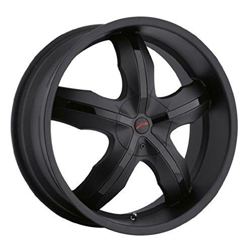 Platinum 212B Widow FWD Matte Black with Gloss Black Inserts Wheel (20x8