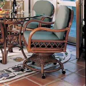 Caster Chair Dining Rattan Swivel Chair Pads Amp Cushions