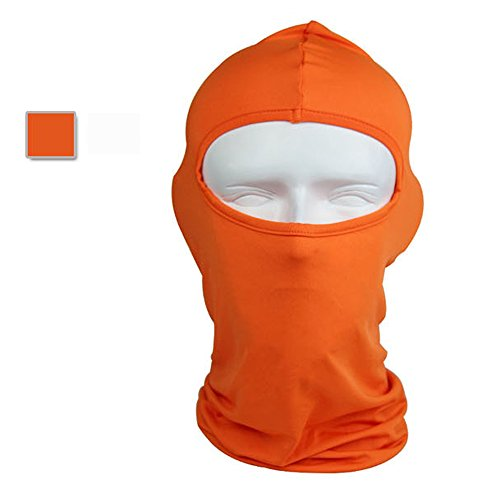 Ezyoutdoor Winter Thermal FLEECE Swat Ski Neck Hoods Full Face Mask Cover Hat Cap for Riding Cycling Hunting Fishing Walking Outdoor Sports (orange)