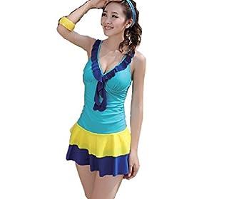 womens one tankini swimwear skirt swimsuit cover the