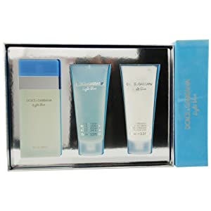 Dolce & Gabbana Light Blue Gift Set for Women (EDT Spray, Body Cream and Shower Gel)