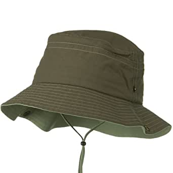 UV 50+ Sun Protection Talson Bucket Hat - Brown Khaki at ...