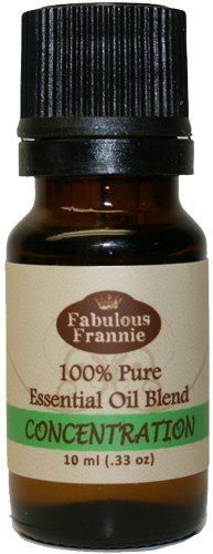 Concentration Pure Essential Oil Blend 10ml 100% Pure, Undiluted Essential Oil Blend Therapeutic Grade - 10 ml A perfect blend of Tea Tree, Lavender and Chamomile Essential Oils by Fabulous Frannie