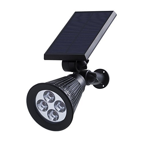GenLed Solar Lights Spotlights Outdoor Landscape Lights Waterproof Security Wall Light Auto On/Off with Built-in Solar Powered ,Perfect for Patio Deck Yard Garden Driveway (1 18 Enclosed Trailer compare prices)
