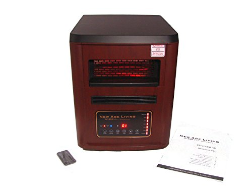New Age Living H1000-4 High Efficiency Infrared Heater, Air Purifier w/ HEPA filter, Humidifier