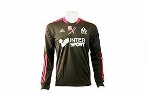 Adidas om 4th jsy ls p noir maillot football olympique marseille Adidas T:XL