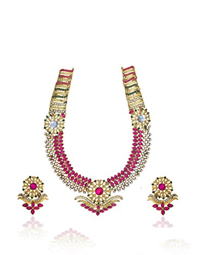 Zaveri Pearls Beautiful Long Botanic Necklace Set  for Women-ZPFK621