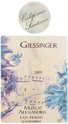 2009 Giessinger Muscat Of Alexandria, Central Coast Dessert Wine 500 Ml