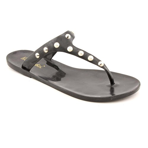 BootsiTootsi Stud Open Toe Flip Flops Sandals Shoes Black Womens New/Display