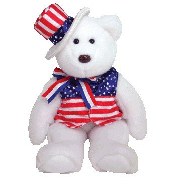 Ty Beanie Buddies Sam - Bear White