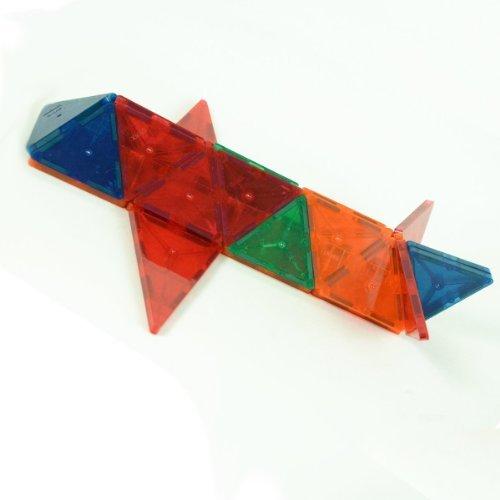 Playmags-100-Piece-Clear-Colors-Magnetic-Tiles-Deluxe-Building-Set-with-Car-Bonus-Bag