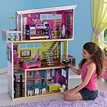 "Hot Sale My MODERN DOLL HOUSE w LIGHTS & SOUNDS - DOLLHOUSE w 13 FURNITURE Pieces For Barbie & 11.5"" Dolls (2011 KidKraft)"