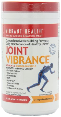 Vibrant Health Joint Vibrance, Powder, Gluten Free,Orange Pineapple 13.1-Ounce