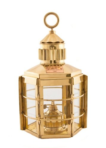 "Nautical Lamp Brass Clipper 16"" - Hurricane Lamps"