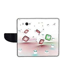 KolorEdge Printed Flip Cover For Redmi Xiaomi MI 2S Multicolor - (45KeMLogo11149XiaomiMi2S)