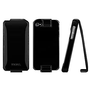 more. Shocking Collection Faux Leather Flip-top Case for iPhone 4/4S (Black) - fit AT&T, Verizon, Sprint models
